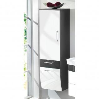 Badmöbel Badezimmer Gästebad Hochschrank Rima, geschwungene Hochglanz MDF-Fronten - Vorschau 3