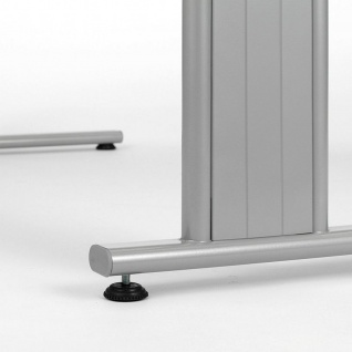 Gera Schreibtisch Bürotisch C Fuß Flex höhenverstellbar 1600x800x680-820mm ahorn buche lichtgrau weiß - Vorschau 5