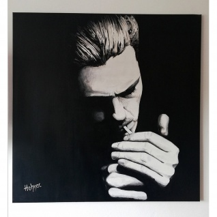 Modernes Gemälde Bild Motiv Man with Cigarette 100x100cm