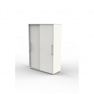 Kerkmann Schiebetürenregal Büroregal 4492 Move2 Move3 Start up 4OH 100 x 40 x 147 cm Korpus weiß abschließbar