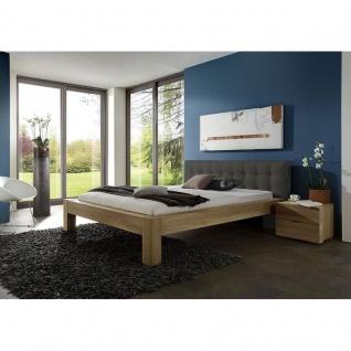 Modernes Bett Doppelbett Massivholz Lotus Standart SE381.00 Kernbuche/Wildeiche