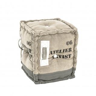 Sitzhocker Hocker Textil Vintage Look 38x38x44cm