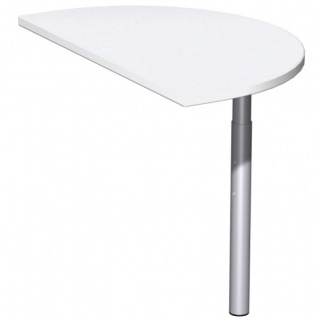 Schreibtisch Bürotisch C Fuß Pro Anbautisch halbrund, 50 x 80 cm, Gera