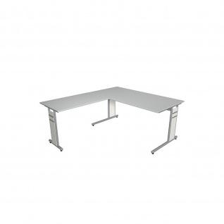 Kerkmann Schreibtisch 4090 Form 4 160x80 x mit C-Fuß-Gestell und Anbautisch - Vorschau 2