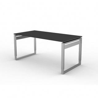 Kerkmann Schreibtisch 4031 Form 5 160x80x68-82 cm Bügel-Gestell höhenverstellbar