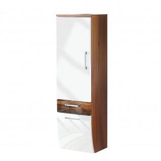 Badmöbel Badezimmer Gästebad Hochschrank Rima, geschwungene Hochglanz MDF-Fronten - Vorschau 4