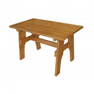 Gartentisch Holztisch Tisch aus Kiefernholz massiv hellbraun 70 x 120 cm