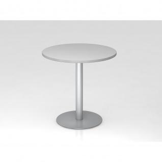 Hammerbacher Bistro Tisch Beistelltisch Besprechungstisch 08 silber 80 cm Durchmesser - Vorschau 2