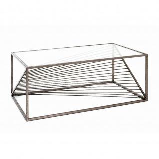 Couchtisch Glastisch antik bronze 100x60x40 cm - Vorschau 3