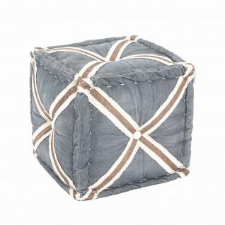 Sitzhocker Hocker Cross Textil Vintage-Look gepolstert