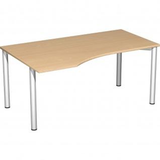 Gera PC-Schreibtisch Bürotisch 4 Fuß Flex links 1600x800x1000mm verschied. Dekore - Vorschau 5