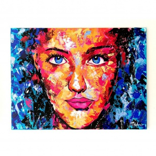 Modernes Gemälde Bild Motiv Red Girl 1 80x60cm