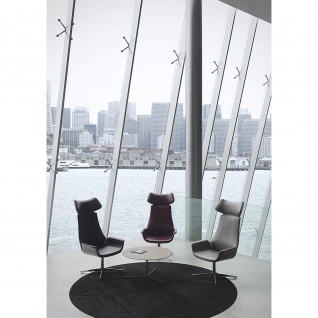 Design Lounge Sessel Kriteria 4-Fußkreuz verchromt einfarbig hohe Lehne