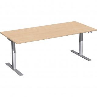 Elektro Flex Schreibtisch elektrisch höhenverstellbar 1800x800x650-1250cm diverse Dekore - Vorschau 4