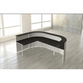 Kerkmann Design-Theke Cento 6 3855 260x180x110cm weiß-anthrazit