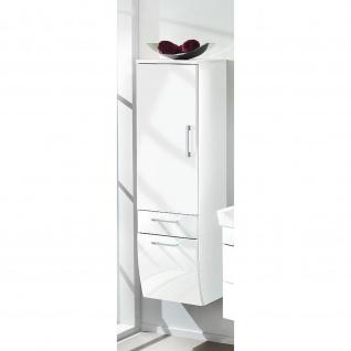 Badmöbel Badezimmer Gästebad Hochschrank Rima, geschwungene Hochglanz MDF-Fronten - Vorschau 5
