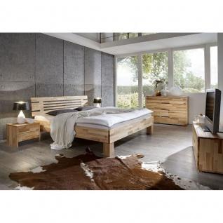 Modernes Einzelbett Doppelbett Massivholz Daisy Spring 330.41 Kernbuche/Buche