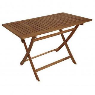 Klapptisch Gartentisch Holztisch klappbar 70 x 120 cm aus Akazienholz