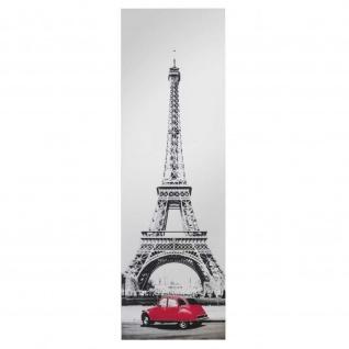 Siebdruckspiegel Eiffelturm 40x120cm, 2 fbg.(schwarz, rot)