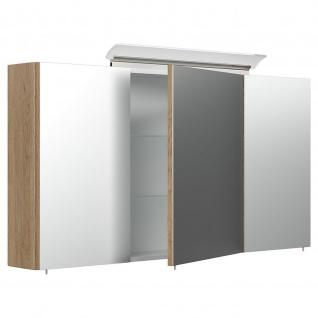 Posseik Design-LED-Spiegelschrank 120cm eiche hell