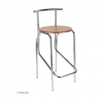 Design Tresenhocker Jola Hocker 78 Wood CR Sitzhöhe 67, 5 cm verchromt Holzsitz