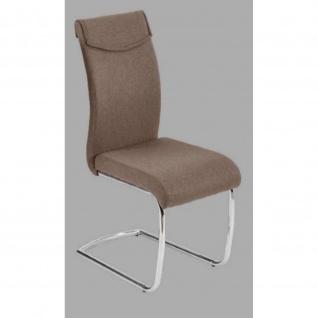 Stuhl Esszimmerstuhl PEDRO braun Maße 44, 5 x 63 x 99 cm