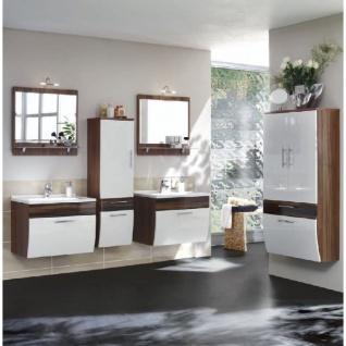 Badmöbelset Badezimmer Salona 6-teilig, komplett, MDF Hochglanz Fronten