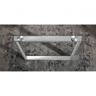 Couchtisch Glastisch Edelstahl/Klarglas 120x60x40cm - Vorschau 3