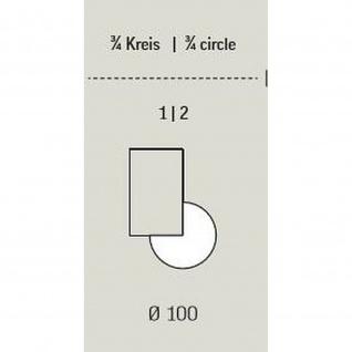 Anbautisch 3/4 Kreis E10 Toro D:100 cm Rundrohrgestell Höhe 740 mm verchromt - Vorschau 3