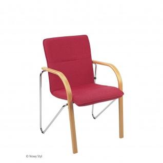 Besucherstuhl Konferenzstuhl Objektstuhl Salsa CR 4-Bein-Stuhl verchromt KN755 anthrazit 1046 havana