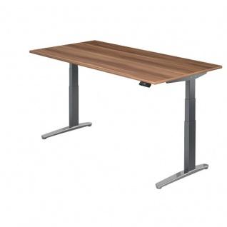 Büro Schreibtisch Stehtisch höhenverstellbar 160x80 cm Modell XBHM16 mit Tast-Schalter