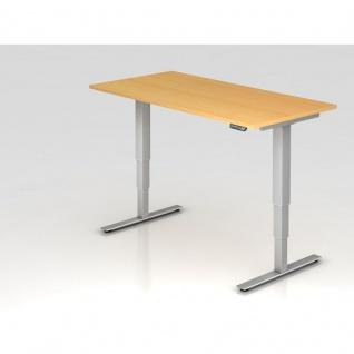 Büro Schreibtisch Stehtisch höhenverstellbar 160x80 cm Modell XDSM16 mit Memory-Schalter