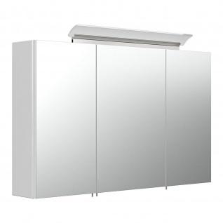 Spiegelschrank 100 inklusive LED-Acrylglaslampe weiß hochglanz