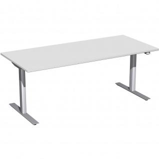 Elektro Flex Schreibtisch elektrisch höhenverstellbar 1800x800x650-1250cm diverse Dekore - Vorschau 3