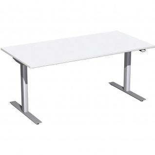 Elektro Flex Schreibtisch elektrisch höhenverstellbar 1600x800x650-1250cm diverse Dekore - Vorschau 5