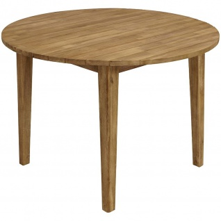 Gartentisch Retro-Look rund 110 cm Akazienholz