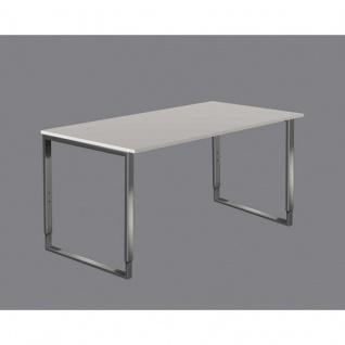 Schreibtisch Aveto Edelstahl höhenverstellbar 160x80 cm Kufen-Gestell