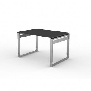 Kerkmann Schreibtisch 4030 Form 5 120x80x68-82 cm Bügel-Gestell höhenverstellbar