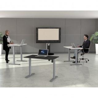 Kerkmann Schreibtisch Sitz-Stehtisch MOVE 1 silber 120x80x74-123cm elektr. höhenverstellbar - Vorschau 2
