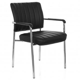 Konferenzstuhl / Besucherstuhl / Stuhl SOMOS V PU schwarz