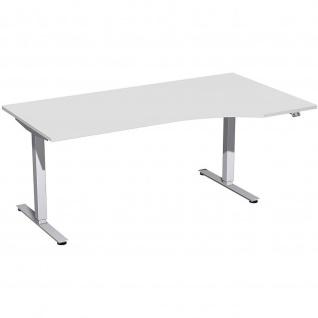 Elektro Smart Freiform-Schreibtisch rechts oder links elektrisch höhenverstellbar 1800x800/1000 mm diverse Dekore - Vorschau 5