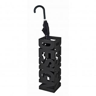 Schirmständer aus schwarz lackiertem Metall