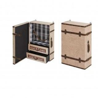Wandregal Case 3,+2 Schubladen MDF PU bezogen, Ablagen Furnier Maße: 40x19x60(H)cm
