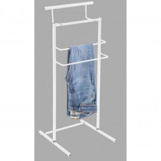 Design Kleiderständer Boris R0032 Metall Weiß Maße 30 x 40 x 100 cm