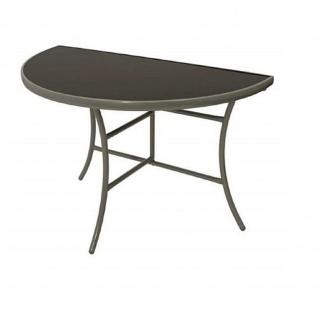 Wandtisch Tisch halbrund Balkontisch aus Sicherheitsglas