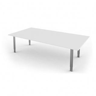 Kerkmann Schreibtisch 4137 Form 5 XL 200x100x68-82 cm Vierfuß-Gestell höhenverstellbar