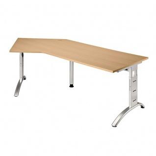 Büro Schreibtisch 210x113 cm Winkelform FS21 höheneinstellbar