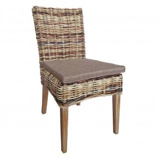Rattan-Stuhl Esszimmerstuhl TIGER aus Naturrattan