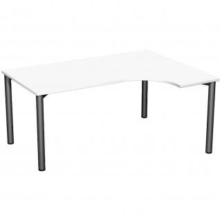 Gera PC-Schreibtisch Bürotisch 4 Fuß Flex rechts 1600x800/1200mm verschied.Dekore - Vorschau 4