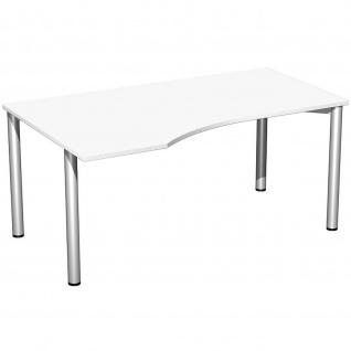 Gera PC-Schreibtisch Bürotisch 4 Fuß Flex links 1600x800x1000mm verschied. Dekore - Vorschau 3